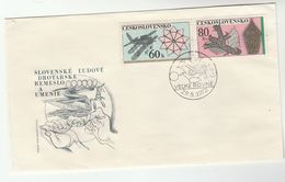 1972 CZECHOSLOVAKIA FDC Stamps THREE HEADED DRAGON  Cover Dragons - FDC