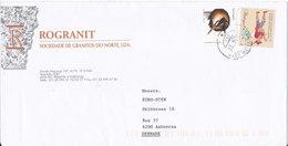Portugal Cover Sent To Denmark Matosinhos 23-2-2001 - Cartas