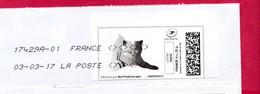 France - 2016- MONTIMBRENLIGNE -  Enveloppe DL -  CHAT - Cartas