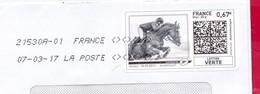 France - 2016- MONTIMBRENLIGNE -  Enveloppe DL -  HYPPISME - Cartas