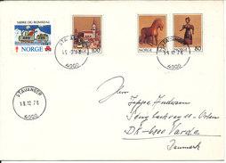 Norway Cover Sent To Denmark Stavanger 19-12-1978 Incl. Christmas Seal - Norwegen
