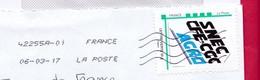 France - 2016- MONTIMBRAMOI -  Enveloppe DL -   SNEC - CFE - CGC AGRO - Cartas