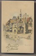 BONNE ANNÉE - Illustrateur Marjorie Christine BATES - Entrée Au Village - Illustrateurs & Photographes