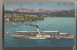 Bateau à Aubes - Stadt Rapperswil - Editeur Photoglob à Zurich - Paddle Wheel Boat  - Vapeur - Ferries