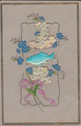 FANTAISIE---Bouquets De Fleurs +  Découpis + Gaufrée + Dorée---voir 2 Scans - Fêtes - Voeux