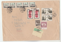 1971 Cheb CZECHOSLOVAKIA COVER Franked 11X STAMPS  Incl HUMAN RIGHTS, REVOLUTION Etc To Germany - Czechoslovakia