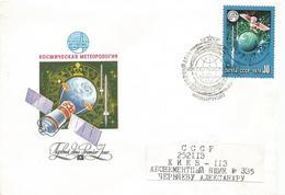 USSR Russia 1978 Meteorology Satellite Space FDC Cover - FDC & Gelegenheidsboekjes