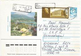 Ukraine USSR 1989 Yalta Crimea Lenin Palace Registered Stationary Cover - Oekraïne