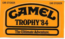 Autorennen Camel Throphy 84 Sticker Autocollant - Automobile - F1