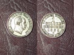 ALLEMAGNE - PRUSSE -  1 SILBER GROSCHEN (1/30 Thaler) Guillaume I - 1869 B, Hanovre - [ 1] …-1871 : German States