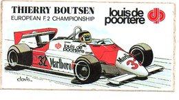 Autorennen Thierry Boutsen F2 Championship Sticker Autocollant - Automobile - F1