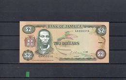 JAMAICA 1990, 2 DOLLARS, PK-69d, SC-UNC, 2 ESCANER - Jamaica