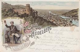 Litho Gruss Aus Heidelberg Color Gelaufen 23.3.1899 - Heidelberg
