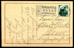 """German Empires1934 AK Nürnberg (Spittler Tor) Mit Mi.Nr.546 U.Propaganda MWST""""Nürnberg-Reichsparteitag """"1 Karte - Alemania"""