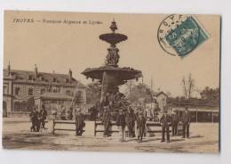 TROYES - 1910 - Fontaine Agence - Lycée - Animée - Troyes