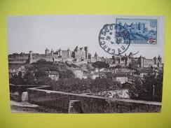 Carte-Maximum    N°490 Carcassonne Timbre Avec Surcharge En Rouge 1940 - Maximum Cards