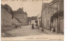 - FRANCE (39) - CPA Ayant Voyagé CHAUSSIN 1904 - Rue Général Lecourbe (avec Personnages) - Editions Bonvallot - - Francia