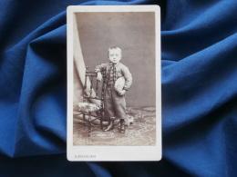 Photo CDV Hector Husson à Sedan -  Petit Garçon (cadet Poulaine) Second Empire Datée 1869  L303 - Anciennes (Av. 1900)