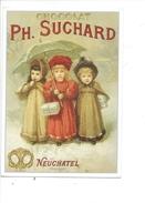 16316 - Chocolat Suchard Neuchâtel Trois Filles Avec Ombrelle  Reproduction D'affiche - Publicité