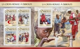Z08 DJB16611ab DJIBOUTI 2016 Red Cross MNH ** Postfrisch Set - Dschibuti (1977-...)