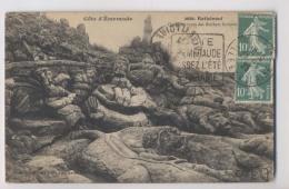 LOT DE 2 CPA  (2 Cartes) ROTHENEUF - Rochers Sculptés - Rotheneuf