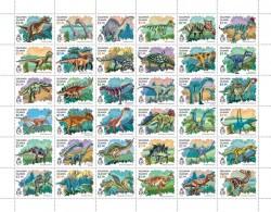Z08 SLM16419a SOLOMON ISLANDS 2016 Dinosaurs Full Sheet MNH ** Postfrisch - Solomon Islands (1978-...)