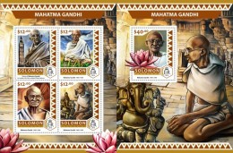 Z08 SLM16505ab SOLOMON ISLANDS 2016 Mahatma Gandhi MNH ** Postfrisch Set - Solomon Islands (1978-...)
