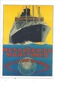 16325 - Les Messageries Maritimes Font Le Tour Du Monde Paquebot Reproduction D'affiche - Publicité