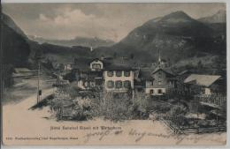 Hotel Buffet Bahnhof Giswil Mit Werrwehorn - Photo: Engelberger No. 1175 - OW Obwald