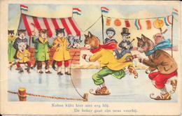 Leedvermaak, Kobus, Schaatsen, 1952 - Humor