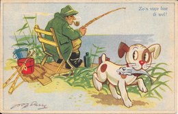 Leedvermaak, Vissen, Hondje, 1952 - Humor