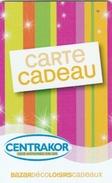 ## Carte  Cadeau  CENTRAKOR (40) ##  (France)   Gift Card, Giftcart, Carta Regalo, Cadeaukaart - Cartes Cadeaux