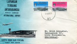 MALAYSIA 1965 FDC INTERNATIONAL AIRPORT. - Maleisië (1964-...)
