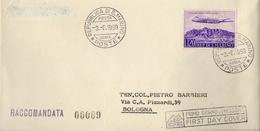 1959  1° VOLO SAN MARINO RIMINI LONDRA BOLAFFI / SASSONE - Storia Postale