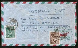 IRAN  Air Mail Old Cover Kakhak - Germany - Iran