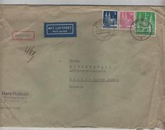 BM Deutsche Post Luftpost Brief Schwabach 12/10/1951 Nach Buchs Schweiz PR4220 - BRD