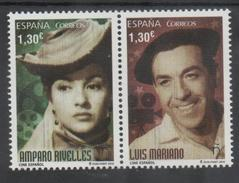 SPAIN, 2016, MNH,CINEMA, ACTORS, LUIS MARIANO, AMPARO RIVELLES, 2v