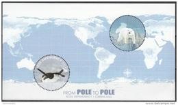 Ross Depency 2014 Bloc Feuillet Manchot Emission Avec Groenland Neuf ** - Dépendance De Ross (Nouvelle Zélande)