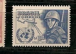 Brazil * & Air Mail, Brazilian Forces Serving The UN 1957 (76) - Luftpost