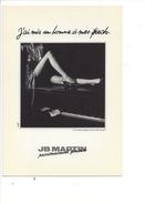 16347- JB Martin J'ai Mis Un Homme à Mes Pieds - Publicité