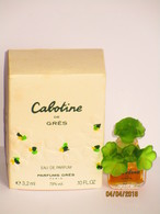 Miniatures De Parfum  CABOTINE  De GRÈS  EDP 3.2  Ml +  BOITE MINIATURE A MOITIE VIDE - Miniatures Modernes (à Partir De 1961)