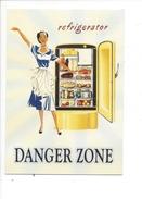 16350 - Refrigerator Danger Zone Jeune Femme - Publicité