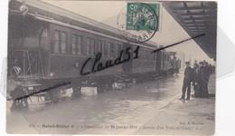 Saint-Dizier (52) L'Inondation Du 20 Janvier 1910 -Arrivée D'un Train En Gare. - Saint Dizier