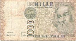 Italy - Pick 109 - 1000 Lire 1982 - VG - [ 2] 1946-… : Repubblica