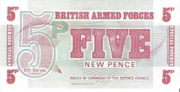 British Armed Forces - Pick M44 - 5 New Pence 1972 - Unc - British Military Authority