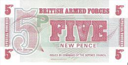 British Armed Forces - Pick M44 - 5 New Pence 1972 - Unc - Autorità Militare Britannica
