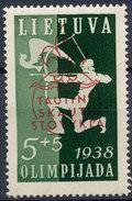 Stamp Lithuania  1938 Semi Postal Mint Lot#26 - Lithuania