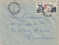 RCA AEF 1952 Batangafo Explorer De Brazza Cover - Brieven En Documenten