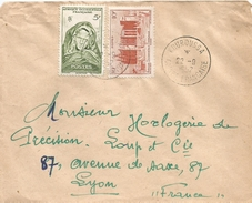 Guinee Guinea AOF 1952 Kouroussa Mosque Woman Cover - Brieven En Documenten