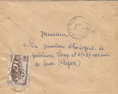 Guinee Guinea AOF 1952 Farmoreah Train Cover - Brieven En Documenten